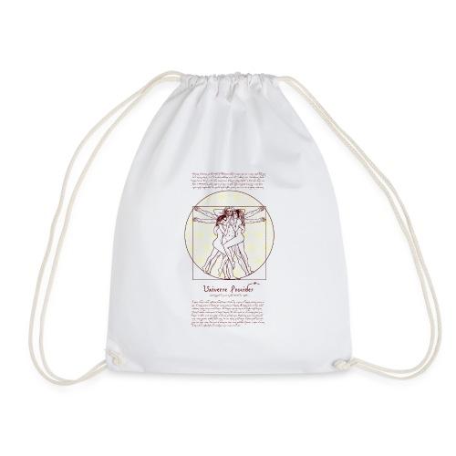 Da Vinci in bed png - Drawstring Bag