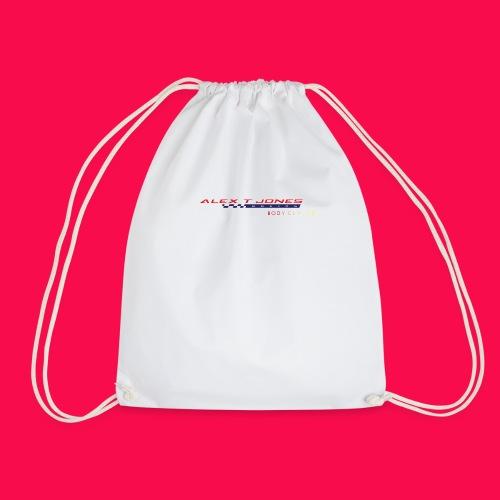 alex t jones racing logo CLEAR BKGD copy png - Drawstring Bag