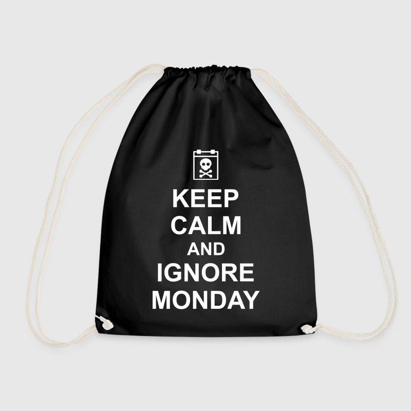 keep calm and ignore monday Montag Arbeit Job - Worek gimnastyczny