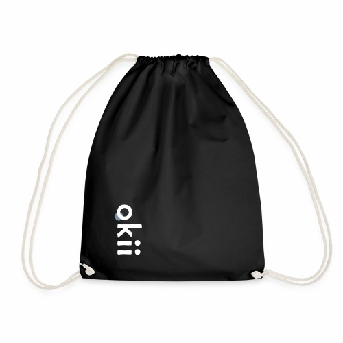 'okii' - white & silver print - Gymnastikpåse