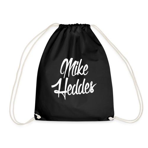 Mike Heddes Logo White Bag - Drawstring Bag
