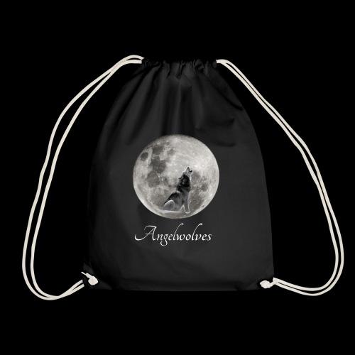 Heulender Wolf vor Mond Angelwolves - Turnbeutel