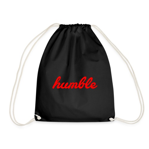 HUMBLE RED SIGNATURE - Drawstring Bag