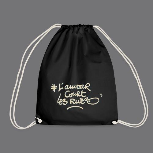 L'AMOUR COURT LES RUES Tee Shirts - Drawstring Bag