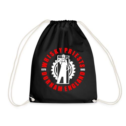 IRON MAN LOGO RED WHITE TRANS - Drawstring Bag