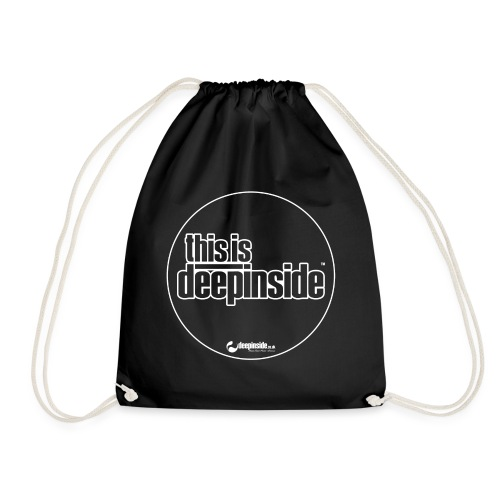 This is DEEPINSIDE Circle logo white - Drawstring Bag