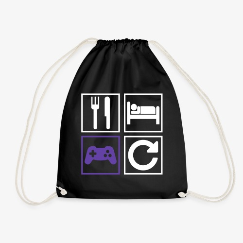 Eat, Sleep, Game, Repeat - Drawstring Bag
