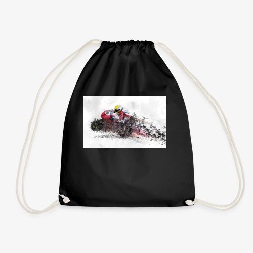 Motorradrennen. Das Geschenk für Motorradfans - Turnbeutel