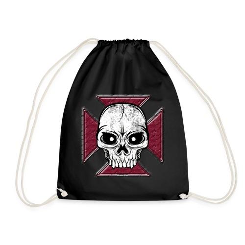 20-07 Iron Cross Skull, pääkallo tekstiilit ym. - Jumppakassi