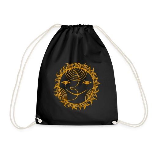 Golden Sunmoon Rising - Drawstring Bag