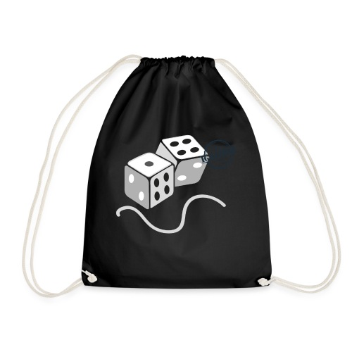 Dice - Symbols of Happiness - Drawstring Bag