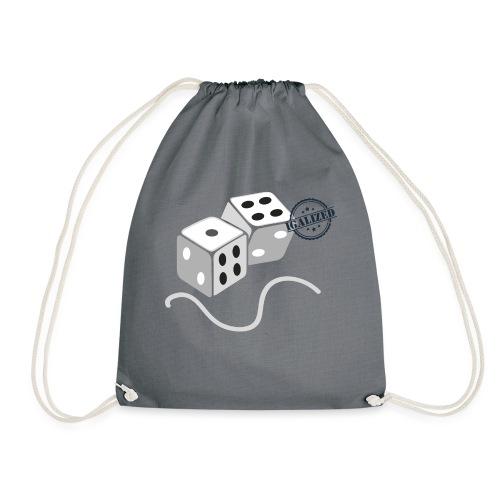 Dice - Symbols of Happiness - Drawstring Bag