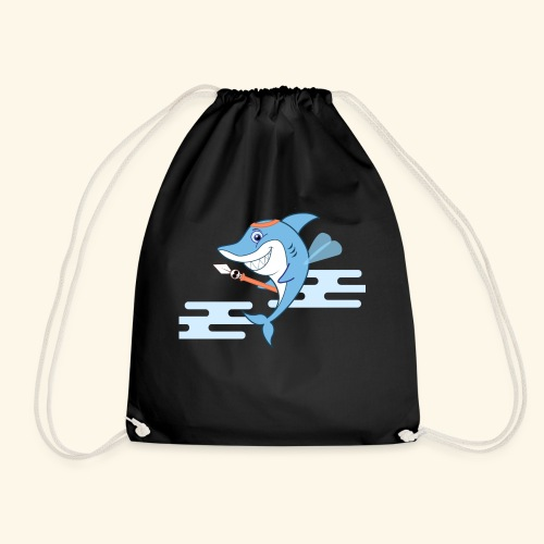 The Shark bodyguard - Drawstring Bag