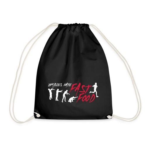 Zombie fast food - Drawstring Bag