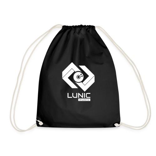 Lunic Music Logo (Weiß) - Turnbeutel