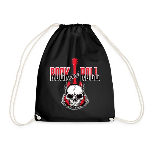 20-09 Rock and Roll Skull, Cool textiles and gifts - Jumppakassi