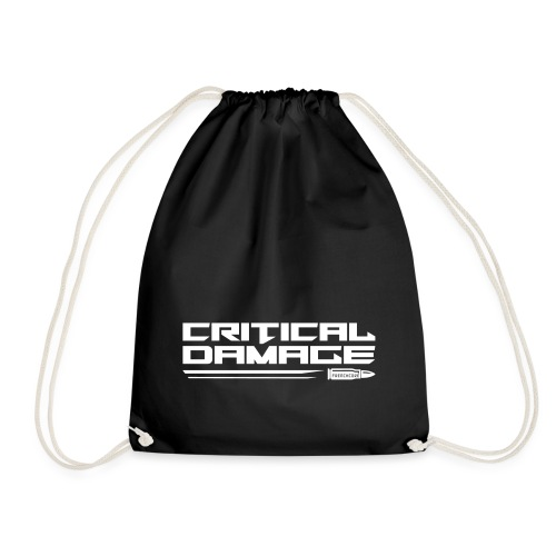 Critical Damage Tekst Logo - Gymtas