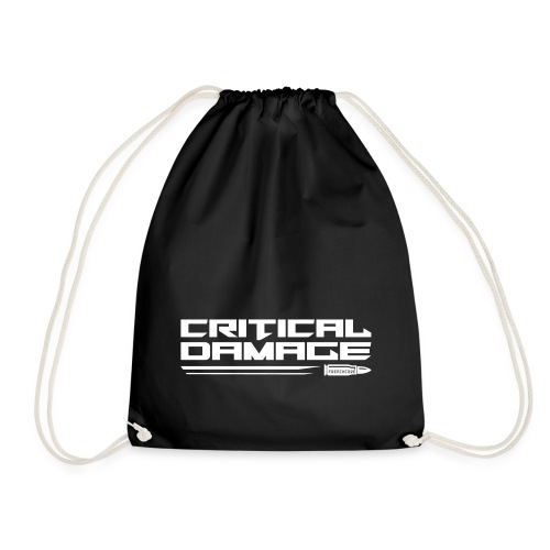 Critical Damage Tekst Logo - Gymtas