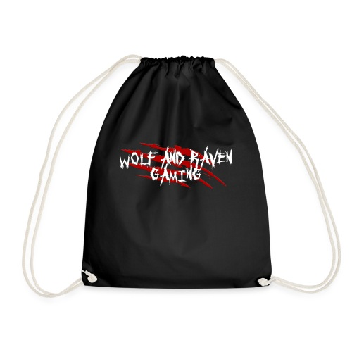 Wolf and Raven Scratches - Drawstring Bag
