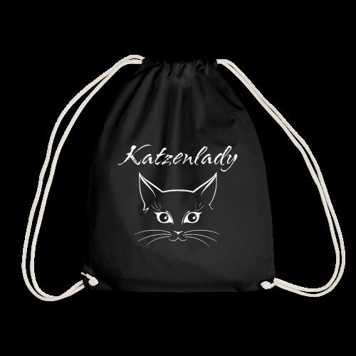 Katzen T-Shirt - Katzenlady - Turnbeutel