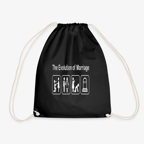 EVOLUTION OF MARRIAGE WEDDING T SHIRT - Drawstring Bag