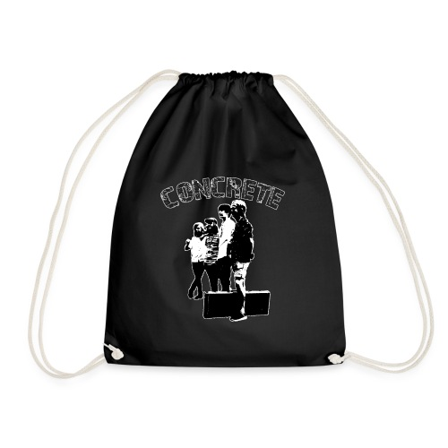 Concrete The band for those who want it in black - Gymbag