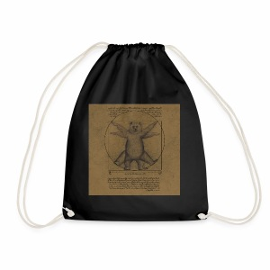 Vitruvian bear - Drawstring Bag