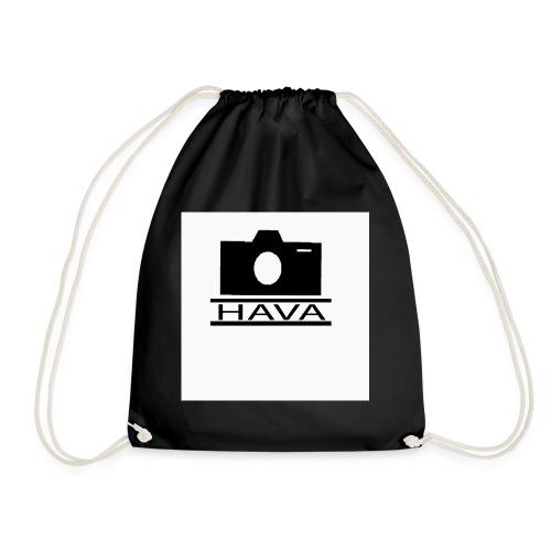 HAVA loggo svart vit - Gymnastikpåse