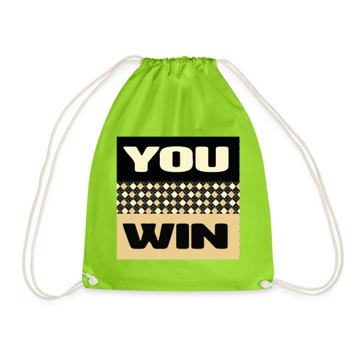 you win 1 - Drawstring Bag