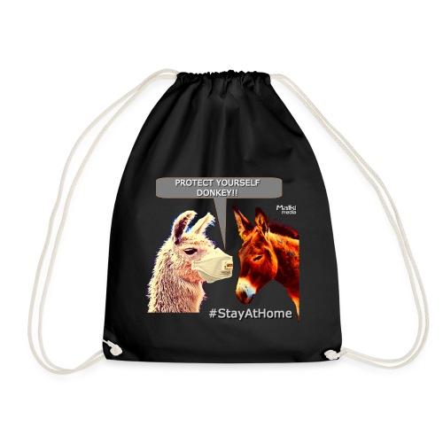 Protect Yourself Donkey - Coronavirus - Drawstring Bag