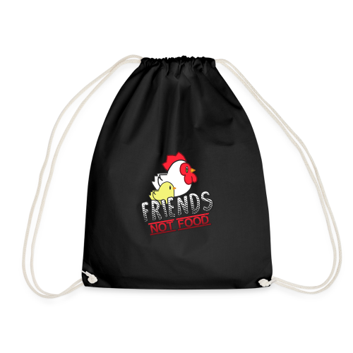 Friends Not Food - Drawstring Bag