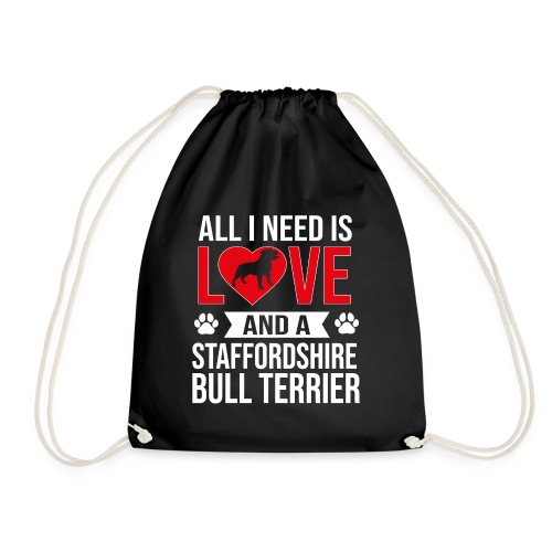 STAFFORDSHIRE BULLTERRIER-LOVE - Turnbeutel