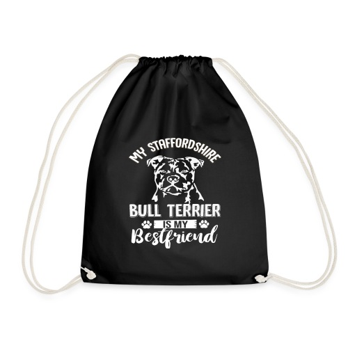 STAFFORSHIR- BULLTERRIER-BEST-FRIEND - Turnbeutel