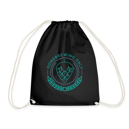 Homebrewing Only Turquoise - Drawstring Bag