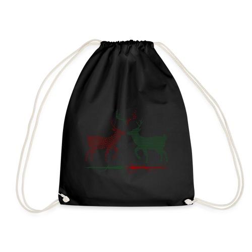 Christmas deer - Drawstring Bag