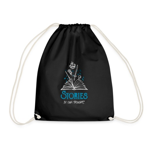 Stories In Our Thoughts - White - Drawstring Bag