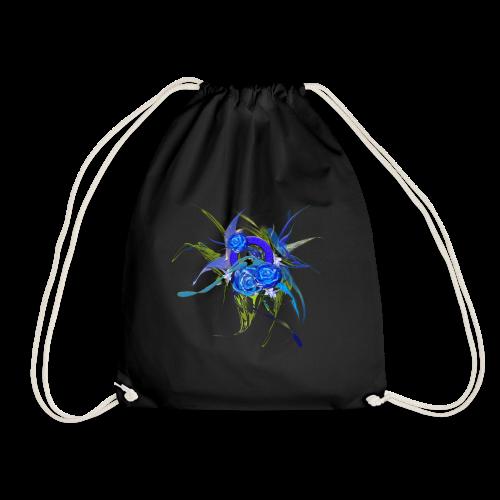 Blue flower - Blå blom - Gymnastikpåse