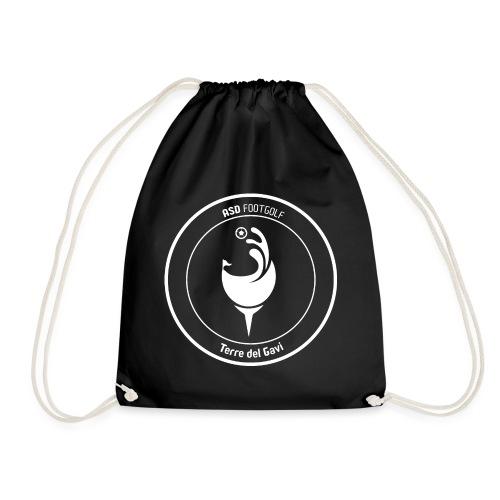 Logo White transparent for black design - Sacca sportiva