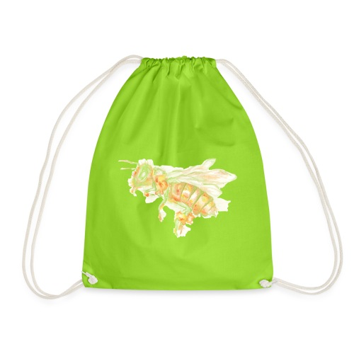 MG002 Bee | Honey | Save the Bees | Books bee - Drawstring Bag