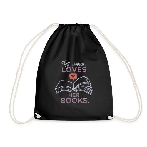 0218 Frau | Bücher | Liebe | Leserin | Bloggerin - Drawstring Bag