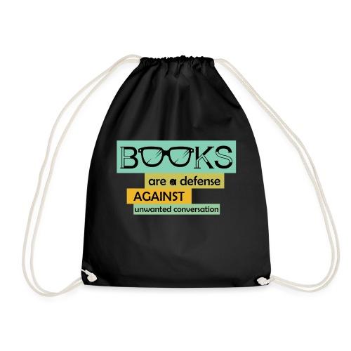0201 books are a defense ... | reader - Drawstring Bag