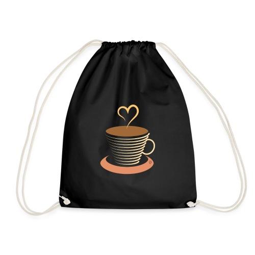 0251 Coffee | Coffee lovers | coffee pot - Drawstring Bag