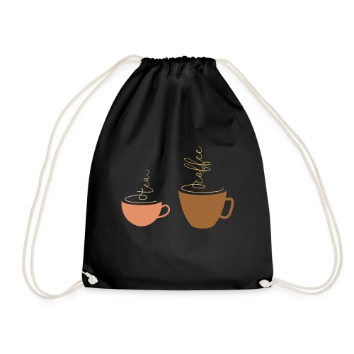 0254 Tea or coffee? That is the question! - Drawstring Bag