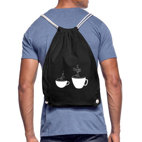 0255 coffee or tea   Best friends - Drawstring Bag