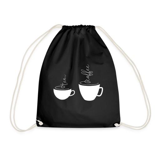 0255 coffee or tea | Best friends - Drawstring Bag