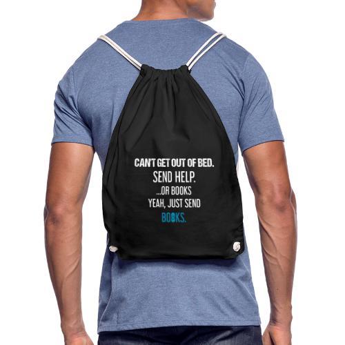 0280 Just send books! - Drawstring Bag