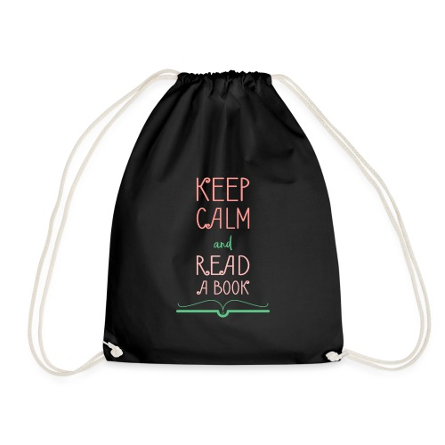 0276 reader   Keep Calm   Reading   Book   Books - Drawstring Bag