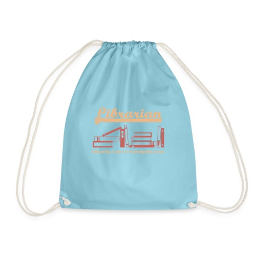 0333 Cool saying funny Quote Librarian - Drawstring Bag