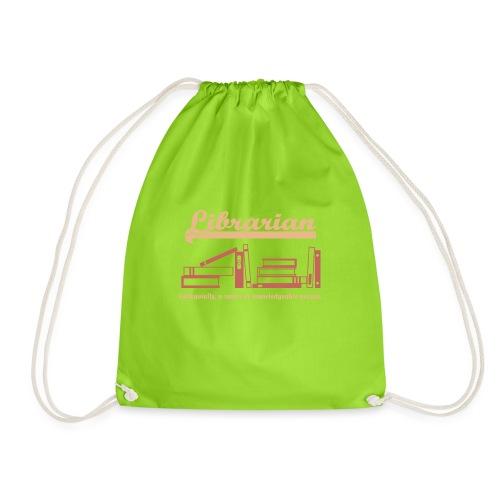 0333 Cool saying funny Quote Librarian - Drawstring Bag