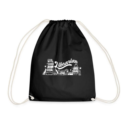 0323 Funny design Librarian Librarian - Drawstring Bag